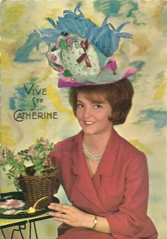 Sainte Catherine, Art Populaire, Months In A Year, Happy Easter, St Patrick, Saints, Postcards, Holiday, Gifs