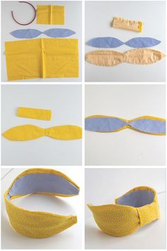 Who doesn't love a cute headband? This adorable bow headband tutorial is perfect for any girl or woman who loves headbands! Cute Headbands, Turban Headbands, Diy Headband, Turban Headband Tutorial, Sewing Headbands, Fashion Headbands, Fabric Headbands, Handmade Headbands, Diy Hat