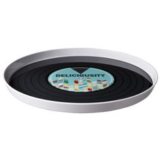 Round Record Melamine Tray.  Would be a fun ritual tray.