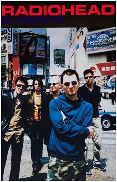 A great poster of Thom Yorke and the guys from Radiohead in Tokyo during the OK Computer era! Check out the rest of our excellent selection of Radiohead posters! Need Poster Radiohead Poster, Gig Poster, Rock Music, My Music, 1990s Music, Thom Yorke Radiohead, Ok Computer, Band Posters, Music Posters