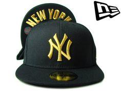 """【ニューエラ】【NEW ERA】59FIFTY """"NEW YORK YANKEES"""" アンダーバイザーNY ブラックXゴールド【ニューヨーク】【NYC】【NY】【GOLD】【black】【黒】【under visor】【MLB】【ヤンキース】【刺繍】【あす楽】【楽天市場】"""