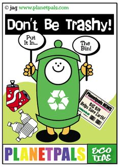 Don't be trashy!  Put it in the bin!