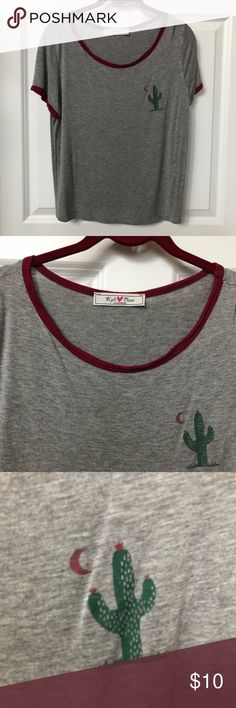 cactus logo T-shirt. Size XL Shoulder to shoulder: 16 inches Bust: 18 inches Length of garment: 22 inches Tops Tees - Short Sleeve