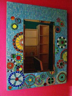 stained glass mosaic mirror by Sunpieces