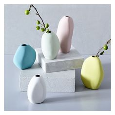 Molded by hand, our Irregular Ceramic Bud Vases add charm to shelves and consoles with their organic shapes. Grab a few as a gift (or maybe just for yourself).…