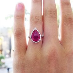 Ruby and Diamond ring #vintage #jewelry