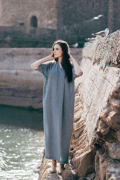 Linen Dress Motumo  16S2 by MotumoLinen on Etsy