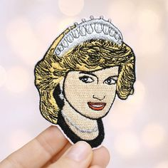 Princess Diana Patch by mimosch. mimosch patches are a fun and simple way to personalise your t-shirts, jackets, hats, jeans, canvas bags, & canvas sneakers and much more! All patches are designed by myself and handcrafted with great care. They feature an iron-on backing & ship with