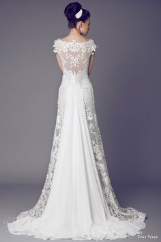 tony ward bridal 2015 narcisse des poetes cap sleeve wedding dress illusion back