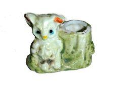 Adorable Vintage Owl Tooth Pick Holder by PopcornVintageByTann - Modern Bobby Pin Holder, Outdoor Couch, Egg Holder, Lovely Shop, Vintage Birds, Ceramic Planters, Vintage Vogue, Vintage Home Decor, Kitsch
