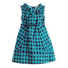 Crewcuts. Girls' retro bow dress in geometric dot