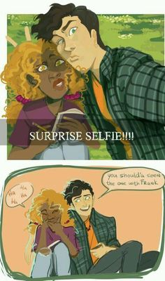 Can Jackson take a NORMAL selfie with his friends? He needs to surprise them for maximum facial ugliness. but of course that isn't possible because they're all so (beaver) dam perfect Percy Jackson Fan Art, Percy Jackson Memes, Percy Jackson Books, Percy Jackson Fandom, Percy Jackson Comics, Rick Riordan Series, Rick Riordan Books, Percabeth, Solangelo