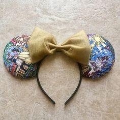 Beauty and the Beast Mosaic Minnie Mouse Ears
