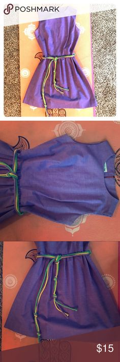 Timeless vintage purple beltedmini dress Bought at a posh vintage boutique in miami, this timeless mini belted dress is super classy, yet funky. Interior tag says machine washable and size 9, but it definitely fits more like US size 4-6. Dresses Mini