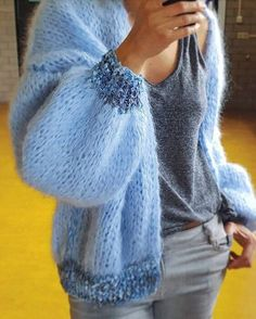 68 New Ideas For Crochet Mandala Vest Pattern Hand Knitting, Knitting Patterns, Crochet Patterns, Afghan Patterns, Crochet Stitches, Cardigans For Women, Jackets For Women, Vest Pattern, Mohair Sweater