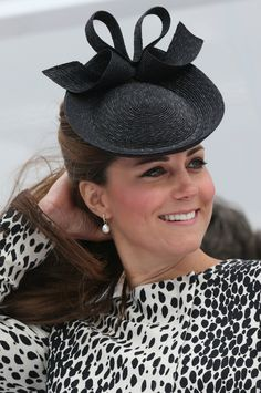 Kate Middleton, enceinte, procède au baptême du navire Royal Princess à Southampton. Le 13 juin 2013.