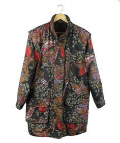Vintage 'Regatta' paisley print long line jacket by FannyAdamsVC, $45.00