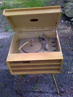 1950's record player/console.  VERY similar to the one I played my 45's on - in the early 60's.