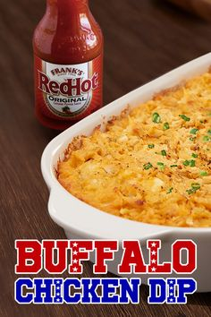 Winning encouraged. Dipping required. This robust, creamy Frank's RedHot Buffalo Chicken Dip recipe tastes like Buffalo Chicken Wings, but without the mess! Serve hot with celery sticks or veggies for an easy football party dish.