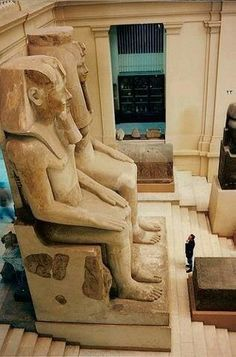 Egyptian Museum, Cairo [Note how tiny the museum visitor is]
