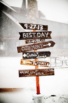 Winter Rustic Wedding Sign