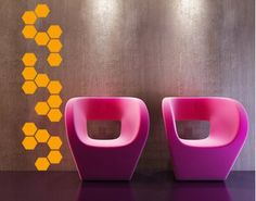 so cool! modern honeycomb decal