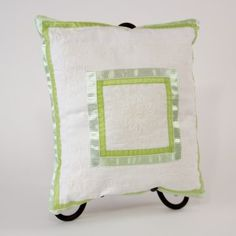 Simply Lovely:Created from 2 vintage linens with unique ribbon overlay on one side, and Rachel Ashwell's  Shabby Chic cotton and button closure on the opposite side.