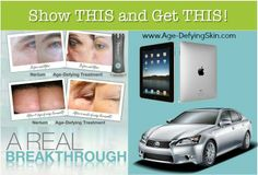 Great BUISINESS opportunity with Nerium. Work from home part time or full time. Show Real Results from Real People and earn your I Pad and earn a brand new Lexus!!  http://www.nerium.com/Opportunity.aspx?ID=agelessperfection