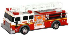 """Toy State 14"""" Rush and Rescue Police and Fire - Hook and Ladder Fire Truck (FFP)"""