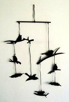 Bird silhouettes mobile.