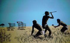 Hunting By Banksy
