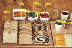 Fancy Grilled Cheese Party. Love this idea for casual entertaining.