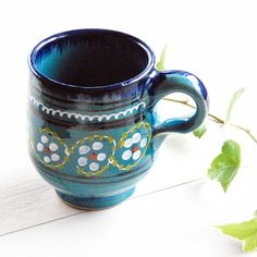 Ceramic hand painted Mug - Beckyson ベッキーソン http://www.beckyson.co/?pid=69134970