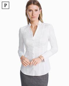 Petite White Poplin Shirt