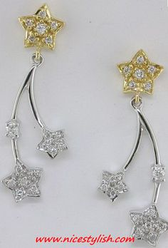2012 Diamond Star Earrings for teens - diamond earrings 2012