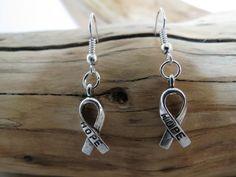 Handmade Ribbon Awareness Earrings