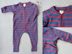 Schlafoverall Baby Jumpsuit von Ulalü - Naturkinderkleidung, Bio Babymode, Erstausstattung auf DaWanda.com