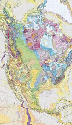 Geology of North America - map
