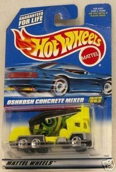 Hot Wheels 1998 1:64 Scale Yellow Oshkosh Concrete Mixer Die Cast Car Collector #863
