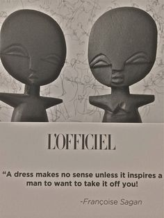 From our QUOTE OF THE DAY photo album: https://www.facebook.com/lofficiel.ch