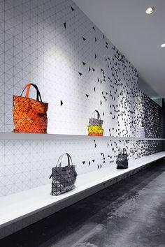 Favorites / Interactive interior facade at Issey Miyake Shinjuku by Moment Design, Tokyo visual merchandising store design