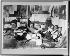 Opium den on Malinta Street, Manila, Philippine Islands 1924