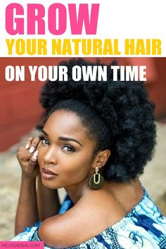 Tips to grow your natural hair on your own time, create the perfect hair care routine with our tip. Natural Hair Growth Tips, Natural Hair Types, How To Grow Natural Hair, Long Natural Hair, Healthy Hair Growth, Growing Long Hair Faster, Best Hair Mask, Hair Growth Treatment, Natural Hair Inspiration