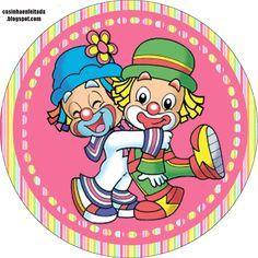Casinha de Criança: Kit Festa Patati Patata Para Menina Grátis Circus Birthday, Circus Theme, 2nd Birthday Parties, Clown Crafts, Pierrot Clown, Cute Clown, Send In The Clowns, Bird Party, Free Boxes