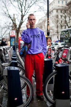 da759147ba28 Street style at London Fashion Week Men s fall 2017. Dope Fashion