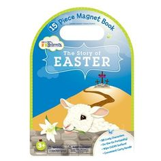 """[""""Tell the Easter Resurrection story in your own way! Position these 15 durable, detailed magnets on the colorful magnetic board, or create your own display on the refrigerator. The sturdy scene folds in half and all pieces store in the vinyl snap-top bag for on-the-go fun.<div style=\""""font-weight: normal;\""""><br><\/div><div><b>Product Details:<\/b><\/div><div style=\""""font-weight: normal;\"""">Dimensions: 10\"""" x 7\""""<\/div><div style=\""""font-weight: normal;\"""">Ages 3+.<\/div>""""] $13.99"""