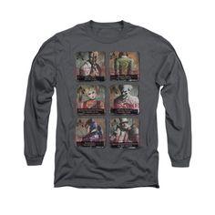 Batman Arkham City - Arkham Lineup Adult Long Sleeve T-Shirt