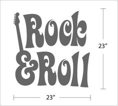 rock and roll drawings   Rock and Roll Vinyl Wall Art Decals Stickers Decor   eBay