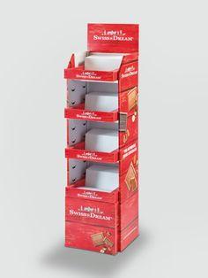 Etagendisplay im Regal-Stil mit Warenträger für Schokoladentafeln. • #Dinkhauser #Wellpappe #Karton  #Display #POS