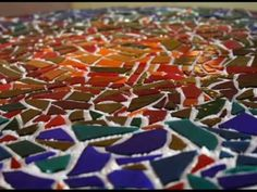 Any one can mosaic! Here is a video on how, although i dont recomend grouting indoors!